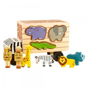 Black Friday 2020 - Melissa & Doug Animal Rescue Shape-Sorting Truck - Wooden Toy With 7 Animals and 2 Play Figures