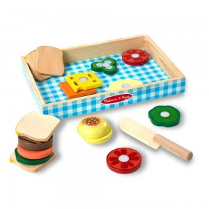 Black Friday 2020 - Melissa & Doug Wooden Sandwich-Making Pretend Play Food Set