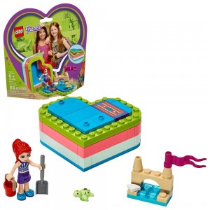 Black Friday 2020 - LEGO Friends Mia's Summer Heart Box 41388 Building Kit with Turtle Figure and Mia Mini Doll 85pc