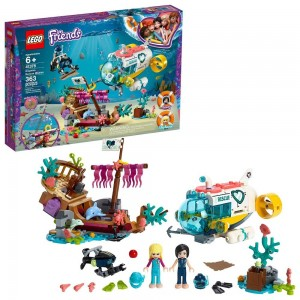 Black Friday 2020 - LEGO Friends Dolphins Rescue Mission 41378 Sea Life Building Kit with Toy Submarine and Sea Creatures