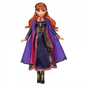 Black Friday 2020 - Disney Frozen 2 Singing Anna Fashion Doll with Music Wearing a Purple Dress