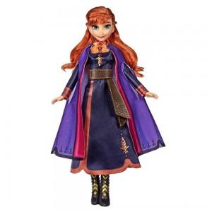 Black Friday 2020 - Disney Frozen 2 Singing Anna Fashion Doll with Music Wearing a Purple Dress