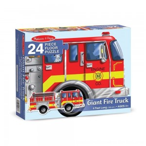 Black Friday 2020 - Melissa And Doug Fire Truck Jumbo Floor Puzzle 24pc