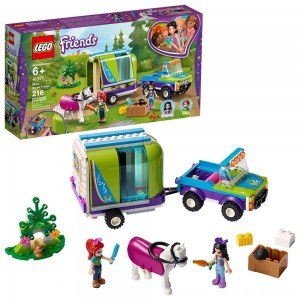 Blac Friday 2020 - LEGO Friends Mia's Horse Trailer 41371 Building Kit with Mia and Stephanie Mini Dolls 216pc