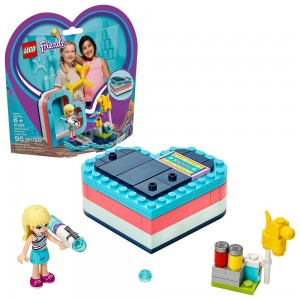 Black Friday 2020 - LEGO Friends Stephanie's Summer Heart Box 41386 Portable Toy Building Set, Stephanie Mini Doll 95pc