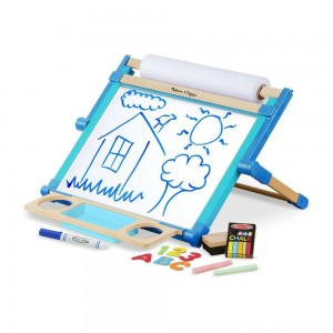 Black Friday 2020 - Melissa & Doug Double-Sided Magnetic Tabletop Art Easel - Dry-Erase Board and Chalkboard