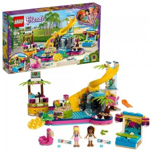 Black Friday 2020 - LEGO Friends Andrea's Pool Party 41374 Toy Pool Building Set with Mini Dolls for Pretend Play