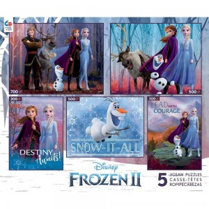 Black Friday 2020 - Ceaco Disney Frozen 2 5pk Puzzles 2300pc, Adult Unisex