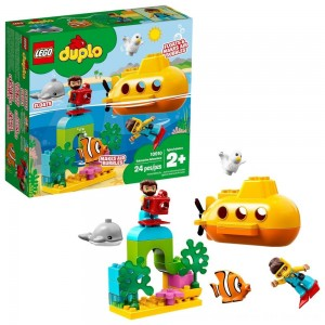 Blac Friday 2020 - LEGO DUPLO Submarine Adventure 10910 Bath Toy Building Set for Toddlers with Toy Submarine 24pc