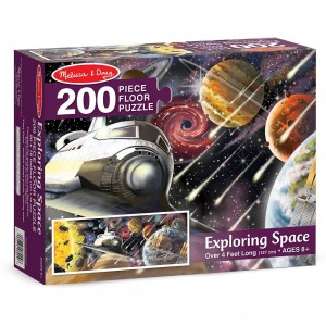 Black Friday 2020 - Melissa & Doug Exploring Space Jumbo Jigsaw Floor Puzzle 200pc