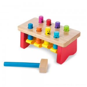 Black Friday 2020 - Melissa & Doug Deluxe Pounding Bench Wooden Toy With Mallet