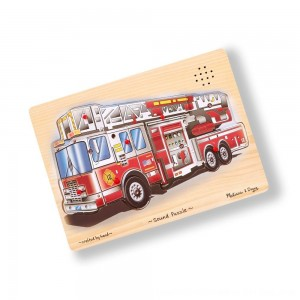Black Friday 2020 - Melissa & Doug Fire Truck Sound Puzzle - 9pc