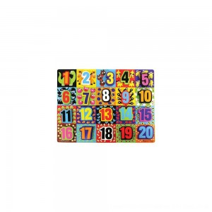 Black Friday 2020 - Melissa & Doug Jumbo Numbers Wooden Chunky Puzzle (20pc)