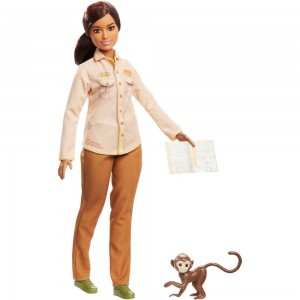 Black Friday 2020 - Barbie National Geographic Doll with Monkey