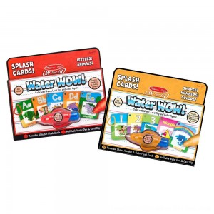 Black Friday 2020 - Melissa & Doug On the Go Water Wow Splash Cards, 2-Pack - Alphabet and Numbers and Colors
