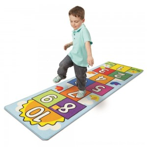 Black Friday 2020 - Melissa & Doug Hop & Ct Hopscotch Rug, Kids Unisex