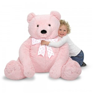 Black Friday 2020 - Melissa & Doug Jumbo Pink Teddy Bear Stuffed Animal (2 feet tall)