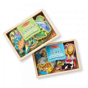 Black Friday 2020 - Melissa & Doug Wooden Magnets Set - Animals and Dinosaurs With 40 Wooden Magnets