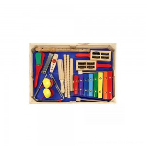 Black Friday 2020 - Melissa & Doug Deluxe Band Set With Wooden Musical Instruments and Storage Case