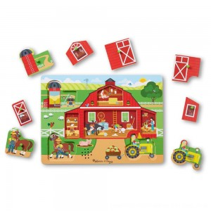 Black Friday 2020 - Melissa & Doug Around the Farm Sound Puzzle 8pc