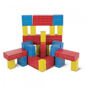 Black Friday 2020 - Melissa & Doug Lightweight Jumbo Cardboard Building Block Set - 40pc