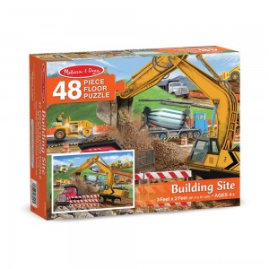 Black Friday 2020 - Melissa And Doug Building Site Jumbo Floor Puzzle 48pc