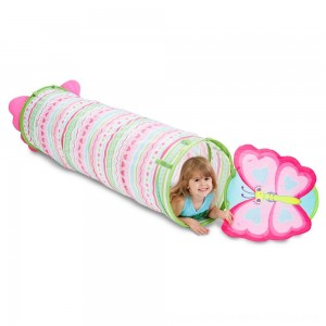 Black Friday 2020 - Melissa & Doug Sunny Patch Cutie Pie Butterfly Crawl-Through Tunnel (almost 5 feet long)