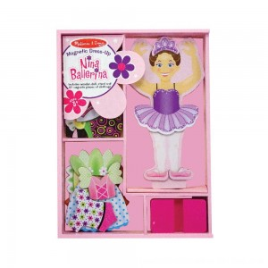 Black Friday 2020 - Melissa & Doug Deluxe Nina Ballerina Magnetic Dress-Up Wooden Doll With 27pc of Clothing