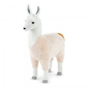 "Black Friday 2020 - Melissa & Doug Standing Lifelike Plush Llama Stuffed Animal (31"" x 30 "" x 9.5"")"