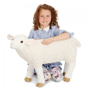 Black Friday 2020 - Melissa & Doug Giant Sheep - Lifelike Stuffed Animal (nearly 2 feet tall)