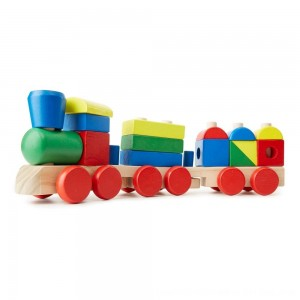 Black Friday 2020 - Melissa & Doug Stacking Train - Classic Wooden Toddler Toy (18pc)