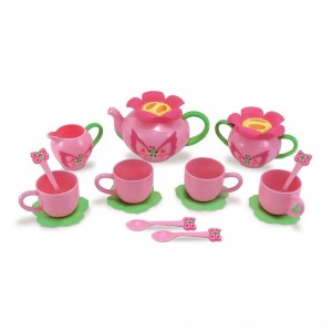 Black Friday 2020 - Melissa & Doug Sunny Patch Bella Butterfly Tea Set (17pc) - Play Food Accessories