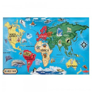 Black Friday 2020 - Melissa And Doug World Map Jumbo Floor Puzzle 33pc