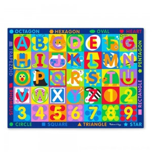 Black Friday 2020 - Melissa & Doug Jumbo ABC-123 Rug, Kids Unisex