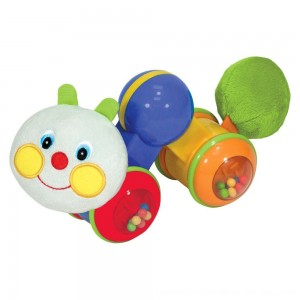 Black Friday 2020 - Melissa & Doug K's Kids Press and Go Inchworm Baby Toy - Rattles, Clicks, and Self Propels