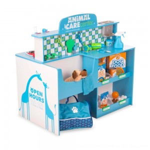 Black Friday 2020 - Melissa & Doug Animal Care Veterinarian and Groomer Wooden Activity Center