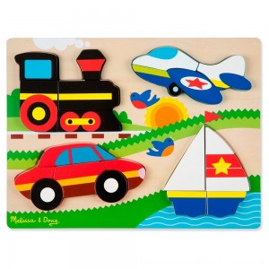 Black Friday 2020 - Melissa & Doug Chunky Jigsaw Puzzle - Vehicles 20pc