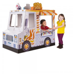 Black Friday 2020 - Melissa & Doug Food Truck Indoor Corrugate Playhouse (Over 4' Long)