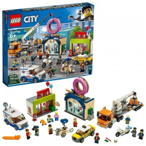 Black Friday 2020 - LEGO City Donut Shop Opening 60233 Store Opening Build and Play with Toy Vehicles and City Minifigures