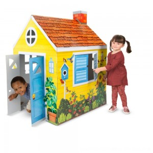 Black Friday 2020 - Melissa & Doug Country Cottage Indoor Corrugate Playhouse (Over 4' Tall)