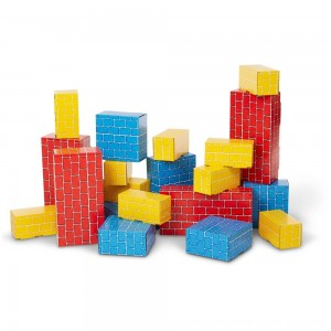 Black Friday 2020 - Melissa & Doug Extra-Thick Cardboard Building Blocks - 24 Blocks in 3 Sizes