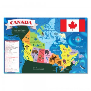 Black Friday 2020 - Melissa And Doug Canada Map Jumbo Floor Puzzle 48pc