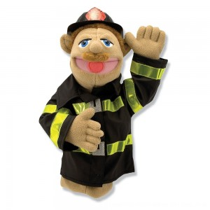 Black Friday 2020 - Melissa & Doug Firefighter Puppet With Detachable Wooden Rod