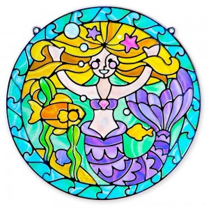 Black Friday 2020 - Melissa & Doug Stained Glass Made Easy Activity Kit: Mermaids - 140+ Stickers