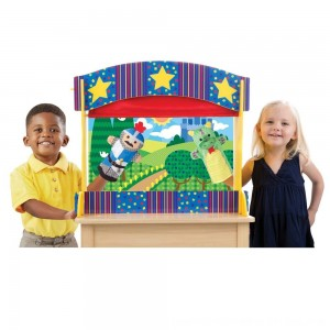Black Friday 2020 - Melissa & Doug Tabletop Puppet Theater - Sturdy Wooden Construction