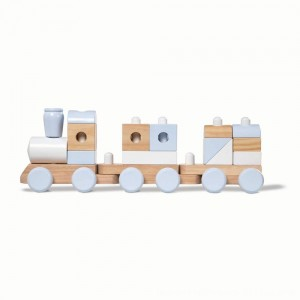 Black Friday 2020 - Melissa & Doug Wooden Jumbo Stacking Train - Natural