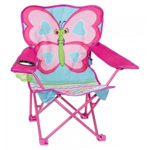 Black Friday 2020 - Melissa & Doug Sunny Patch Cutie Pie Butterfly Folding Lawn and Camping Chair