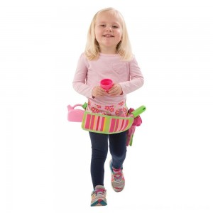 Black Friday 2020 - Melissa & Doug Sunny Patch Blossom Bright Garden Tool Belt Set With Gloves, Trowel, Watering Can, and Pot