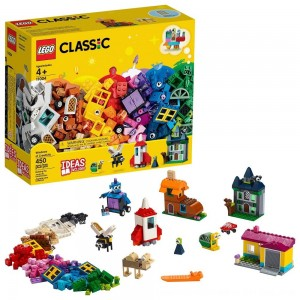 Black Friday 2020 - LEGO Classic Windows of Creativity 11004 Building Kit with Toy Doors for Creative Play 450pc