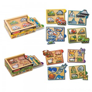 Black Friday 2020 - Melissa & Doug Wooden Mini-Puzzle Set With Storage and Travel Case 32pc